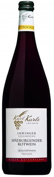 2015er Ihringer Vulkanfelsen Spätburgunder Rotwein QbA trocken 1,0 l