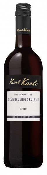 2019er Ihringer Winklerberg Spätburgunder Rotwein Kabinett, 0,75 l