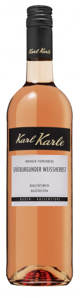 2019er Ihringer Fohrenberg Spätburgunder Weißherbst Qualitätswein halbtrocken, 0,75 l