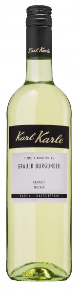 2018er Ihringer Winklerberg Grauburgunder Kabinett trocken, 0,75 l