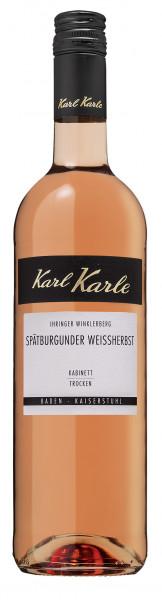 2018er Ihringer Winklerberg Spätburgunder Weißherbst Kabinett trocken, 0,75 l